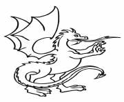 Print dragon standings coloring pages