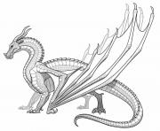 Printable Realistic dragon for adults coloring pages