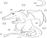 Print cartoon dragon coloring pages