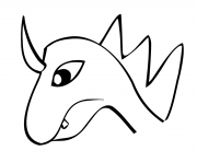 Print dragon heads coloring pages