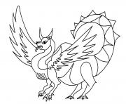 Printable dragon foxs coloring pages
