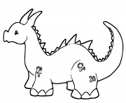 Print cute baby dragons coloring pages