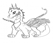 Printable cute baby dragon coloring pages