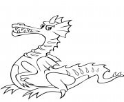Print cartoon dragon (1) coloring pages