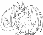 dragon cute coloring pages