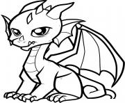 fabulous cute dragon coloring pages