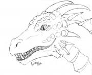 dragon face coloring pages