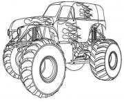 Printable Hot Wheels Monster Truck kids coloring pages