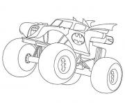 Printable Batman Monster Truck coloring pages