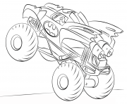 Print batman monster truck hd coloring pages
