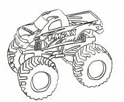 Print grave digger monster truck coloring pages