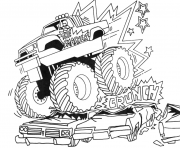 Print monster truck for toddlers coloring pages