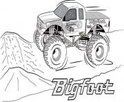 Printable Bigfoot Monster Truck 2 coloring pages