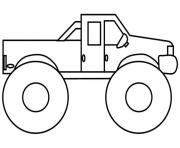 Printable Very Easy Monster Truck coloring pages