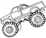 Printable easy monster truck big coloring pages