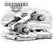 Print grave digger monster jam truck coloring pages