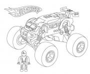 Print hot wheels monster truck coloring pages