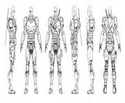Printable Arkham Origins Deathstroke Turnaround coloring pages