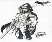 Printable robin arkham city batman coloring pages
