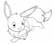 Printable eevee happy coloring pages
