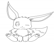 Printable baby eevee pokemon coloring pages