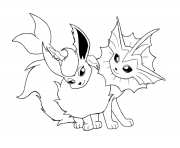 Print eevee evolution 2 coloring pages