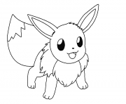 Print eevee is ready coloring pages
