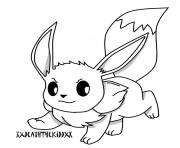 Printable eevee high quality coloring pages