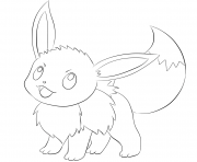 Printable eevee pokemon coloring pages