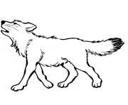 Printable baby wolf coloring pages