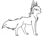 Printable stylish wolf coloring pages