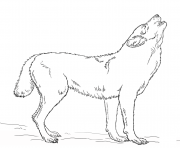 Printable howling wolf coloring pages