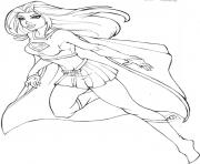 supergirl 2 coloring pages