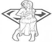 Print supergirl superman coloring pages