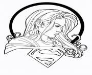 Print supergirl with logo coloring pages
