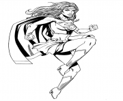Print superwoman coloring pages