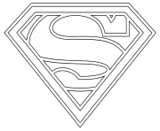 Printable supergirl logo coloring pages