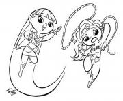 Print 2 cute supergirl 3 coloring pages