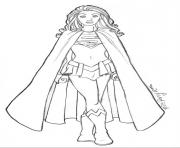 supergirl coloring pages free printable