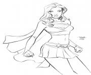 Printable supergirl 13 coloring pages