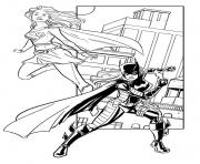 Printable supergirl and batwoman coloring pages