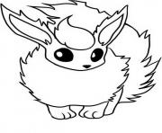 Printable flareon eevee evolutions coloring pages