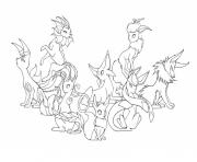 Pokemon Eevee Evolutions Mega Colouring Print Coloring Pages