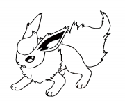 Printable flareon eevee pokemon coloring pages