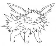 Printable jolteon eevee pokemon coloring pages