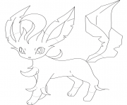 Printable leafeon pokemon coloring pages