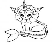 Printable vaporeon pokemon coloring pages
