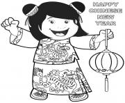 Print chinese new year s little girldede coloring pages