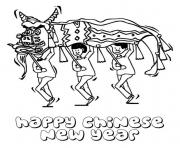 Printable chinese new year s lion danced432 coloring pages