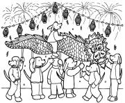 Print free dragon chinese new year sd111 coloring pages